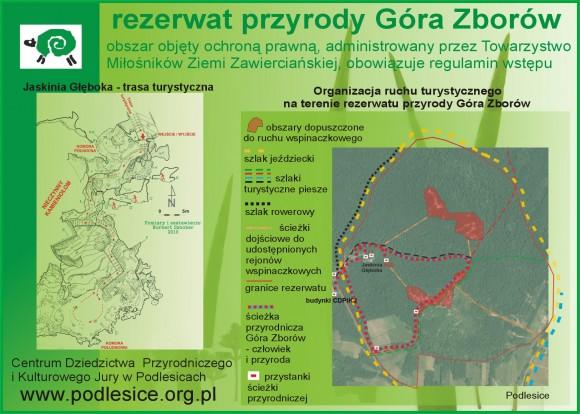 Ścieżka przyrodnicza na terenie rezerwatu przyrody Góra Zborów